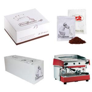 Bustina di caffè decaffeinato sottovuoto personalizzabile